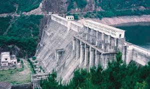 奉化亭下水库砼重力坝